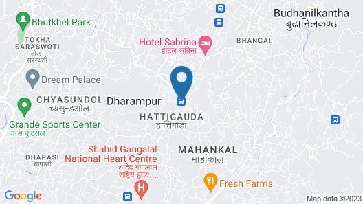 Hotel Sabrina Kathmandu Map