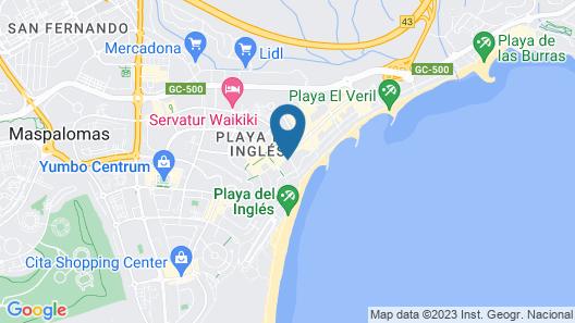 HL Suitehotel Playa del Inglés Map