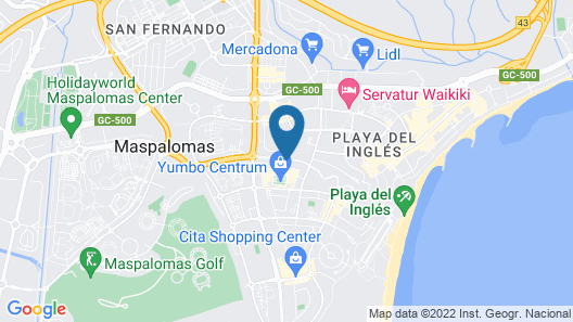 MUR Hotel Neptuno Gran Canaria - Adults Only Map
