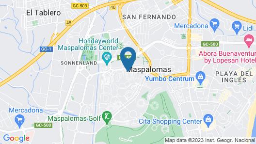 Maspalomas Lago - Canary Sunset Map