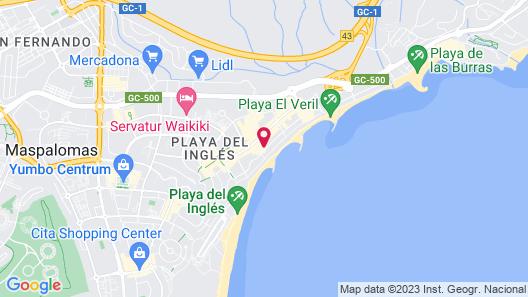 Apartamentos Roca Verde - Playa del Inglés Map