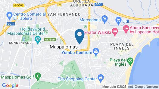 HD Parque Cristóbal Gran Canaria Map
