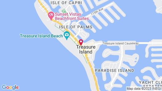 Treasure Island Beach Resort Map