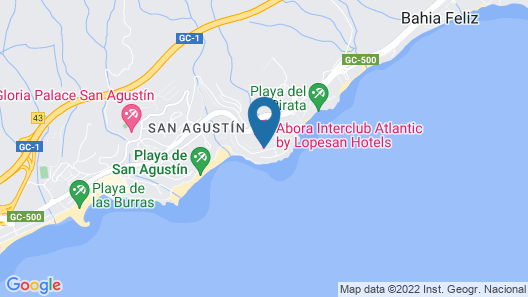 Abora Interclub Atlantic by Lopesan Hotels Map