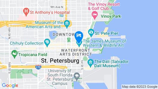 Hyatt Place St. Petersburg / Downtown Map