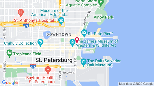 Hampton Inn & Suites St. Petersburg/Downtown Map