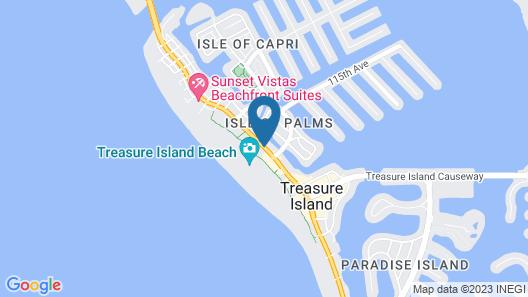 Tahitian Beach Motel Map