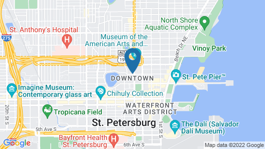 Courtyard by Marriott St. Petersburg Downtown Map
