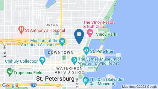 Watergarden Inn at the Bay Map