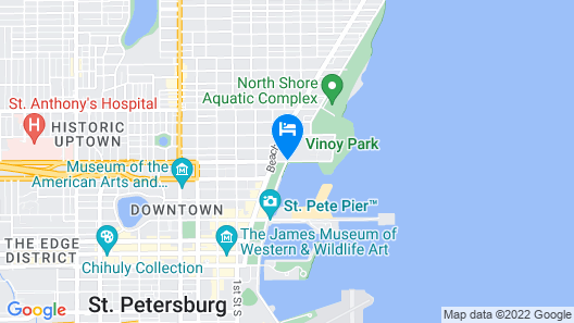 The Vinoy Renaissance St. Petersburg Resort & Golf Club Map
