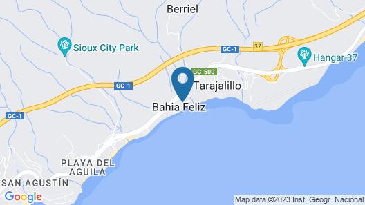 Playa Feliz Map
