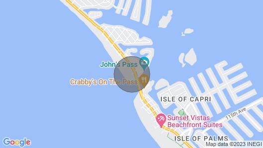Direct Beachfront at John's Pass - Free WiFi - Private Balcony Map
