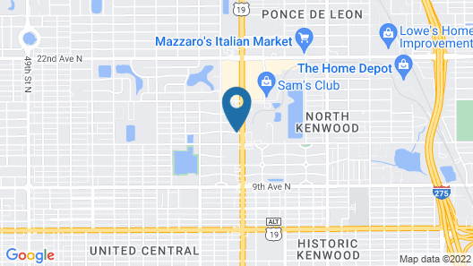 Quality Inn & Suites at Tropicana Field Map