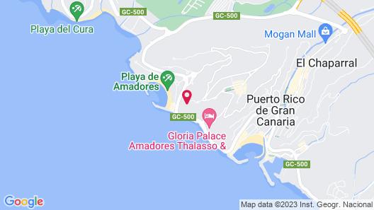 Hotel Riu Vistamar - All Inclusive Map