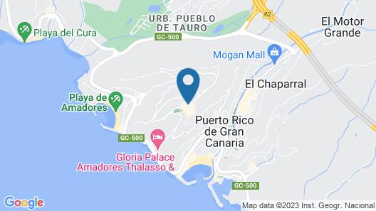 Apartamentos Sol y Paz Map