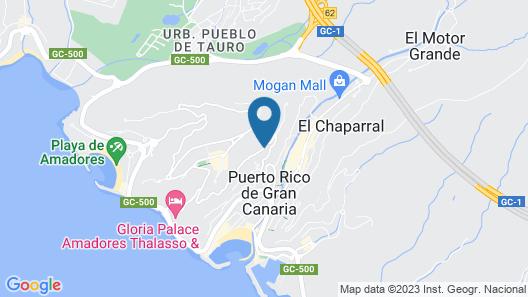 Apartamentos Rocamar Map