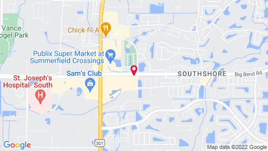 Fairfield Inn & Suites by Marriott Tampa Riverview Map