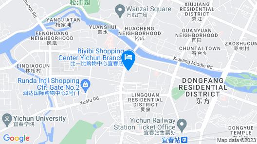 Dehe Hotel - Yichun Map