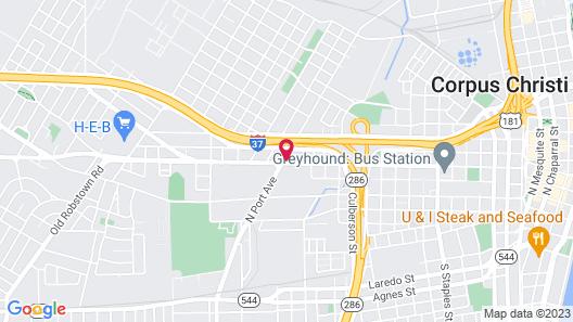 Econo Lodge Inn & Suites Corpus Christi Map