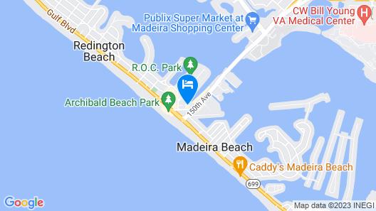 Cambria Hotel St Petersburg-Madeira Beach Marina Map