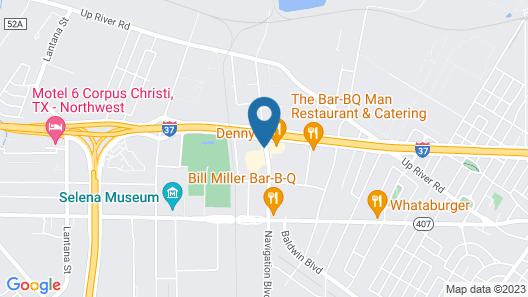 Knights Inn Corpus Christi at Navigation Blvd Map