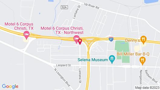 Motel 6 Corpus Christi, TX - Northwest Map