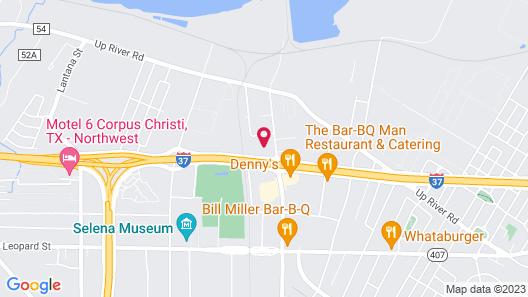 Rodeway Inn Corpus Christi I-37 Map