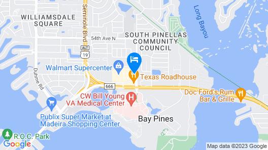 Holiday Inn Express & Suites St. Petersburg - Madeira Beach Map