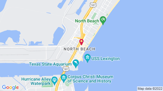 Radisson Corpus Christi Beach Map