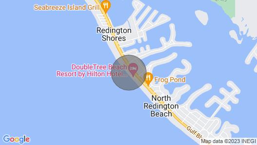 Corner Beachfront Features Magnificent Sunsets in Quiet Redington Beach! Map