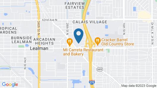 Quality Inn Saint Petersburg North-Tampa Bay Map