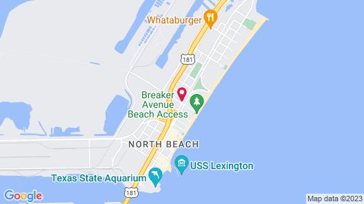 Knights Inn Corpus Christi at North Beach Map