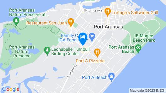 Ocean's Edge Hotel, Port Aransas,TX Map