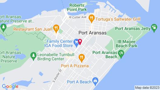 Americas Best Value Inn Port Aransas Map