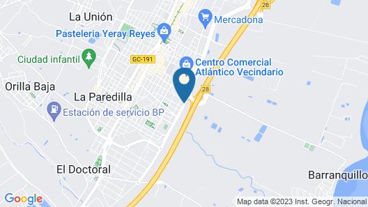 Elba Vecindario Aeropuerto Business & Convention Hotel Map