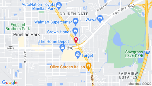 La Quinta Inn by Wyndham Tampa Bay Pinellas Park Clearwater Map