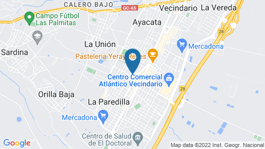 Casa Doctoral Taliarte Map
