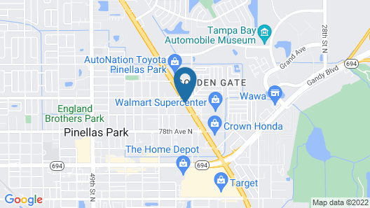 Country Inn & Suites by Radisson, St. Petersburg - Clearwater, FL Map
