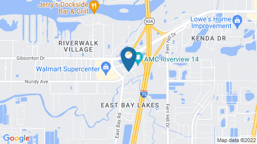 Extended Stay America Premier Suites Tampa Gibsonton Rivervi Map