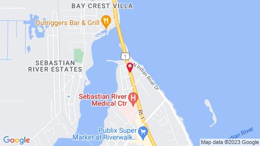 Sebastian Inn and Suites Map