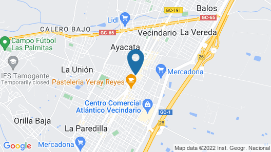 Hotel Avenida de Canarias Map
