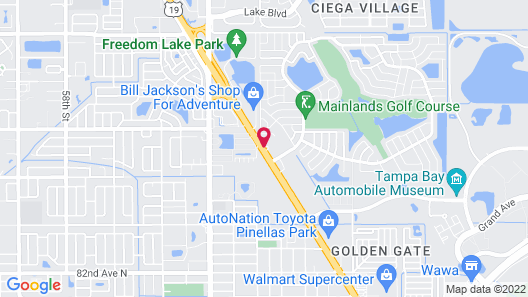 Bayside Inn Pinellas Park - Clearwater Map