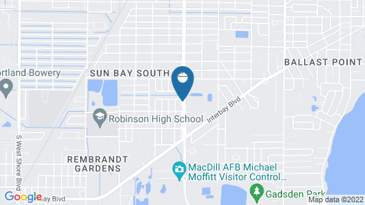 Sleep Inn & Suites Tampa South Map