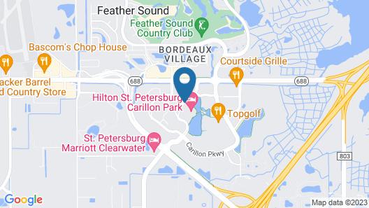 Hilton St. Petersburg Carillon Park Map
