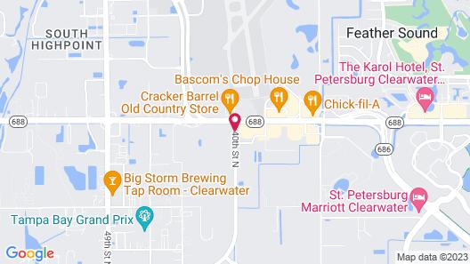 Hampton Inn & Suites Clearwater/St. Petersburg-Ulmerton Road Map