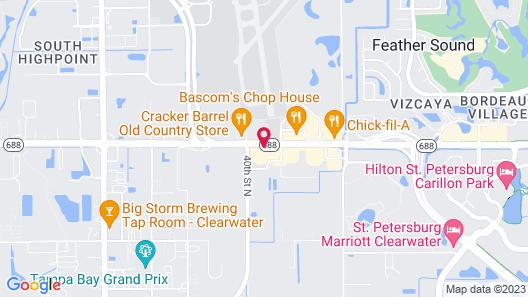 Comfort Inn & Suites Clearwater - St Petersburg Carillon Park Map