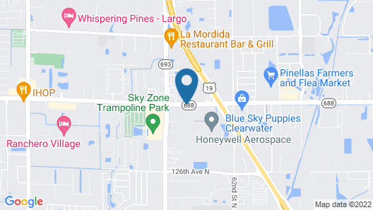 Tampa Bay Extended Stay Hotel Map