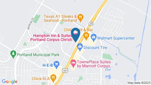 Hampton Inn & Suites by Hilton Portland Corpus Christi Map