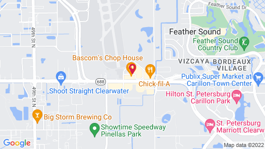 Quality Inn & Suites St. Petersburg - Clearwater Airport Map