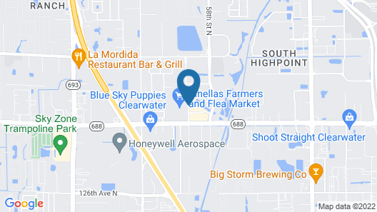 Holiday Inn Express Clearwater East - Icot Center Map